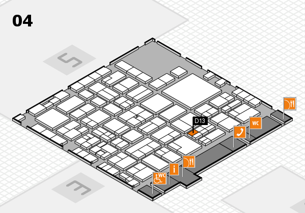 EuroShop 2017 hall map (Hall 4): stand D13