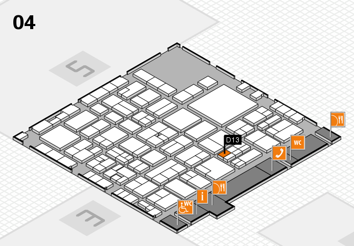 EuroShop 2017 hall map (Hall 4): stand D13