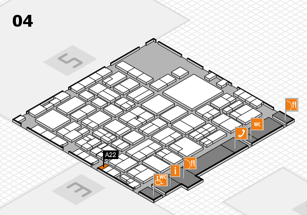 EuroShop 2017 hall map (Hall 4): stand A22