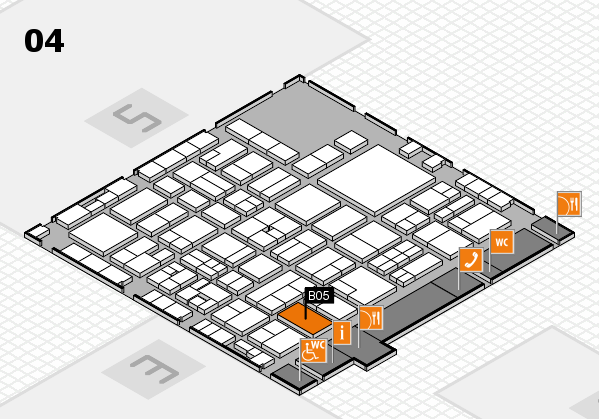 EuroShop 2017 hall map (Hall 4): stand B05