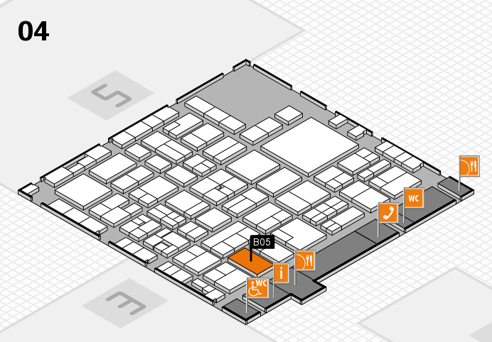 EuroShop 2017 hall map (Hall 4): stand B05