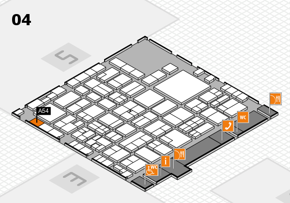 EuroShop 2017 hall map (Hall 4): stand A54