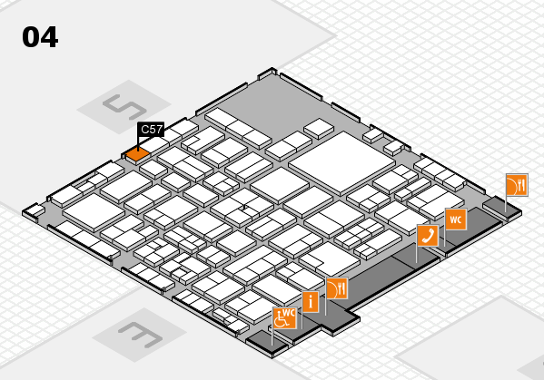 EuroShop 2017 hall map (Hall 4): stand C57