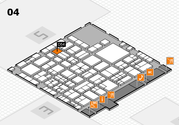 EuroShop 2017 hall map (Hall 4): stand D54