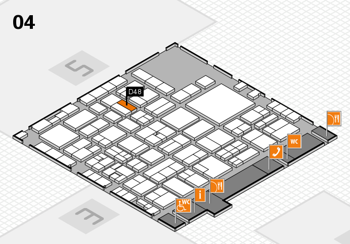 EuroShop 2017 hall map (Hall 4): stand D48