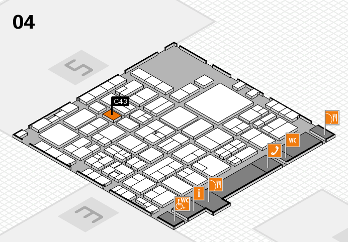 EuroShop 2017 hall map (Hall 4): stand C43
