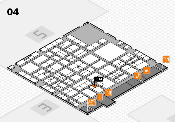 EuroShop 2017 hall map (Hall 4): stand C14