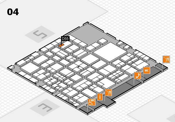 EuroShop 2017 hall map (Hall 4): stand D55
