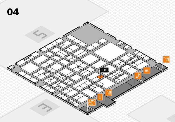 EuroShop 2017 hall map (Hall 4): stand D16