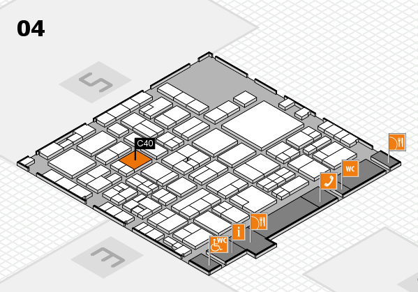 EuroShop 2017 hall map (Hall 4): stand C40