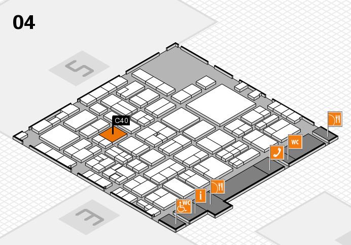 EuroShop 2017 hall map (Hall 4): stand C40