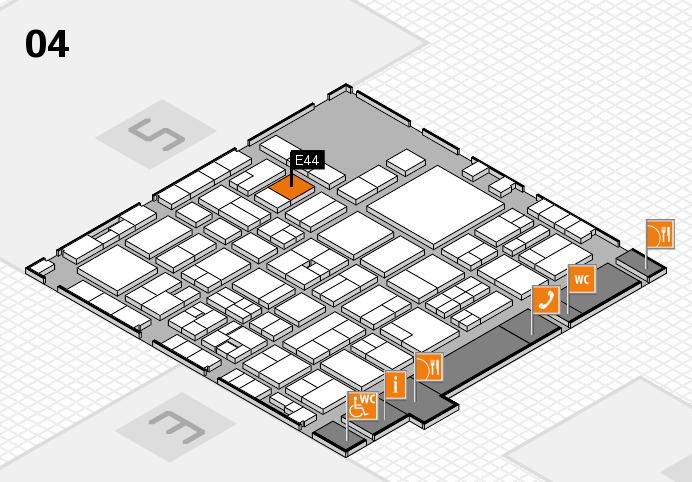 EuroShop 2017 hall map (Hall 4): stand E44