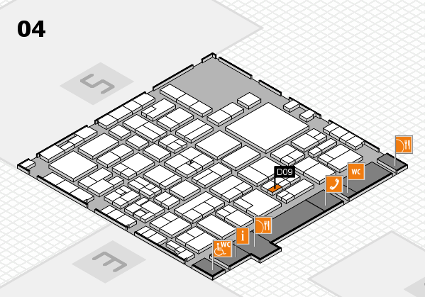 EuroShop 2017 hall map (Hall 4): stand D09