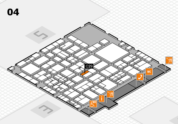 EuroShop 2017 hall map (Hall 4): stand C29
