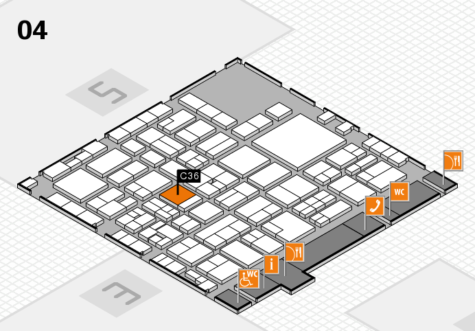 EuroShop 2017 hall map (Hall 4): stand C36