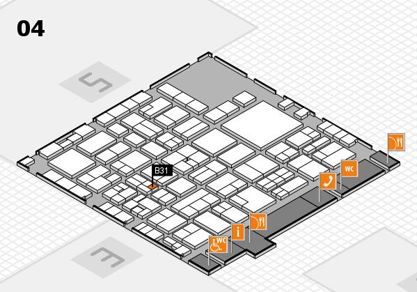 EuroShop 2017 hall map (Hall 4): stand B31