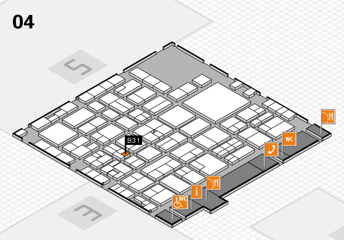 EuroShop 2017 hall map (Hall 4): stand B31