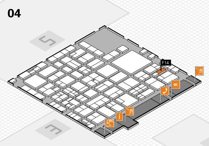 EuroShop 2017 hall map (Hall 4): stand F14
