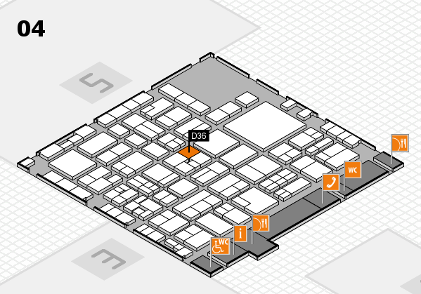 EuroShop 2017 hall map (Hall 4): stand D36