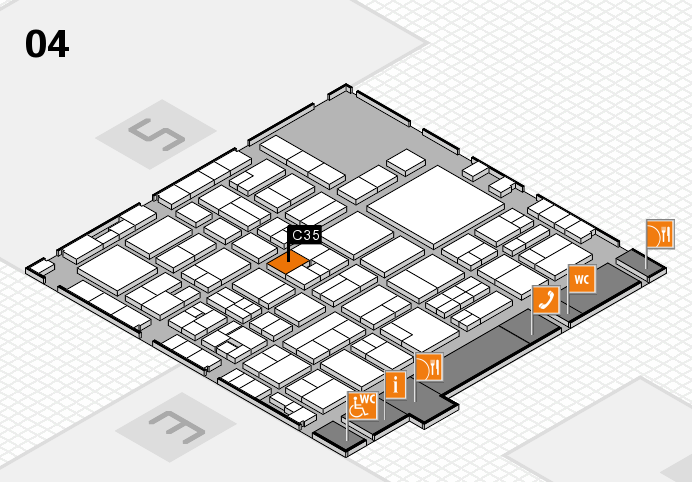 EuroShop 2017 hall map (Hall 4): stand C35