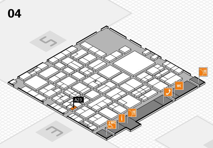 EuroShop 2017 hall map (Hall 4): stand A23