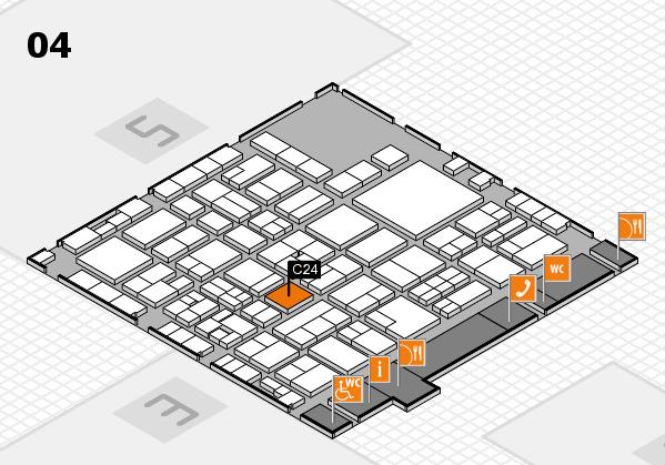 EuroShop 2017 hall map (Hall 4): stand C24