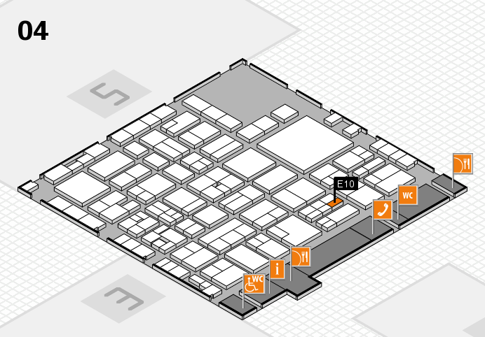 EuroShop 2017 hall map (Hall 4): stand E10