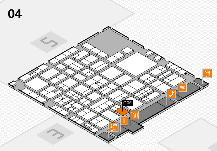 EuroShop 2017 hall map (Hall 4): stand C06