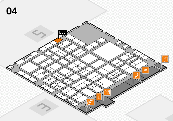 EuroShop 2017 hall map (Hall 4): stand E56