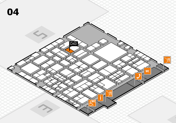 EuroShop 2017 hall map (Hall 4): stand D43