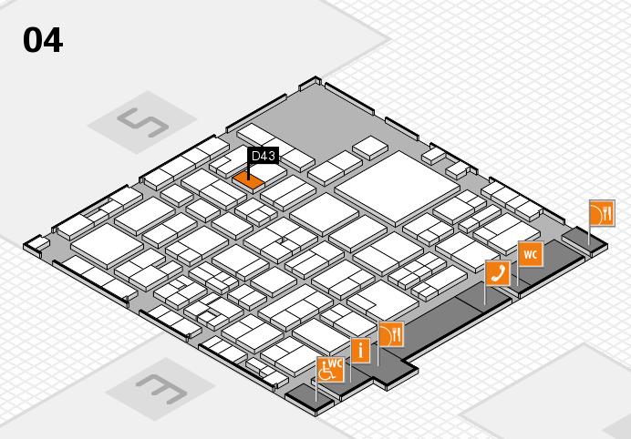 EuroShop 2017 hall map (Hall 4): stand D43