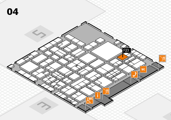 EuroShop 2017 hall map (Hall 4): stand F23