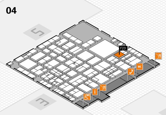 EuroShop 2017 hall map (Hall 4): stand F23
