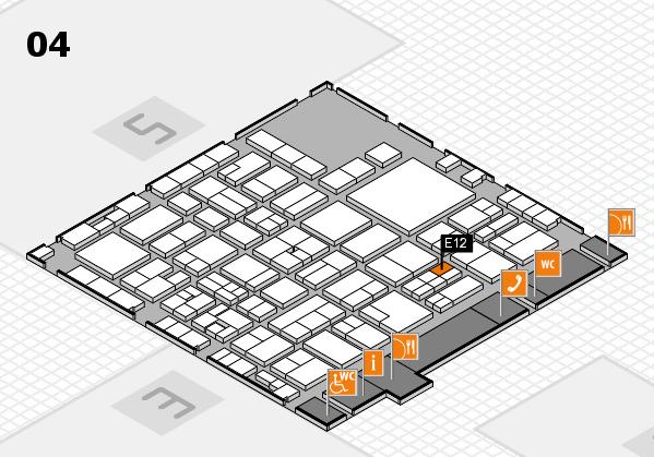 EuroShop 2017 hall map (Hall 4): stand E12