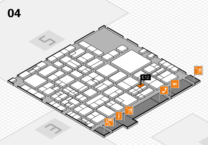EuroShop 2017 hall map (Hall 4): stand E12