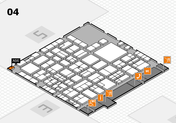 EuroShop 2017 hall map (Hall 4): stand A56