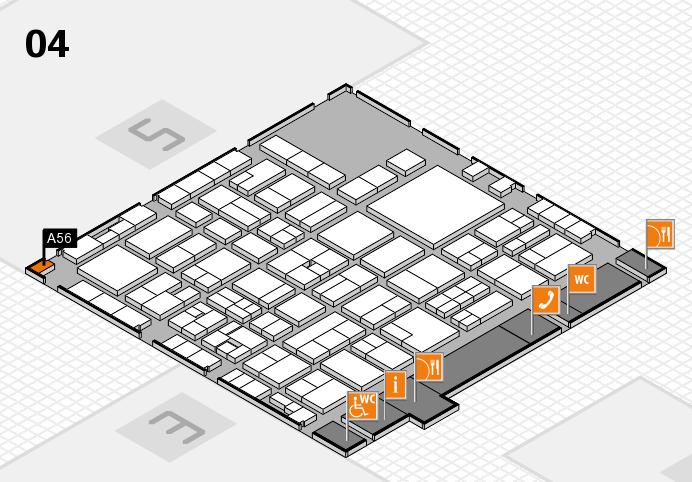 EuroShop 2017 hall map (Hall 4): stand A56
