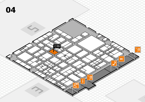 EuroShop 2017 hall map (Hall 4): stand C39