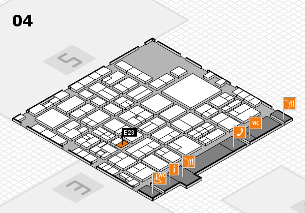 EuroShop 2017 hall map (Hall 4): stand B23