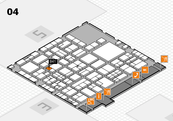 EuroShop 2017 hall map (Hall 4): stand B41