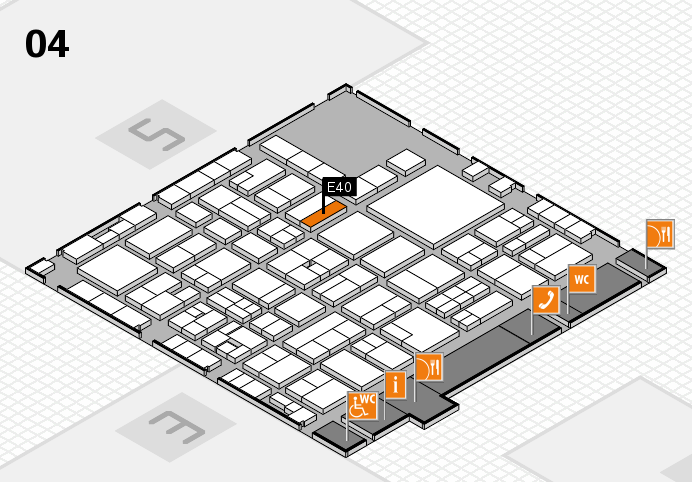EuroShop 2017 hall map (Hall 4): stand E40