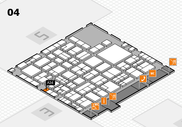 EuroShop 2017 hall map (Hall 4): stand A34