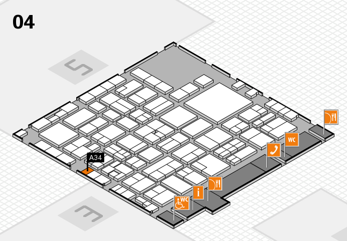EuroShop 2017 hall map (Hall 4): stand A34