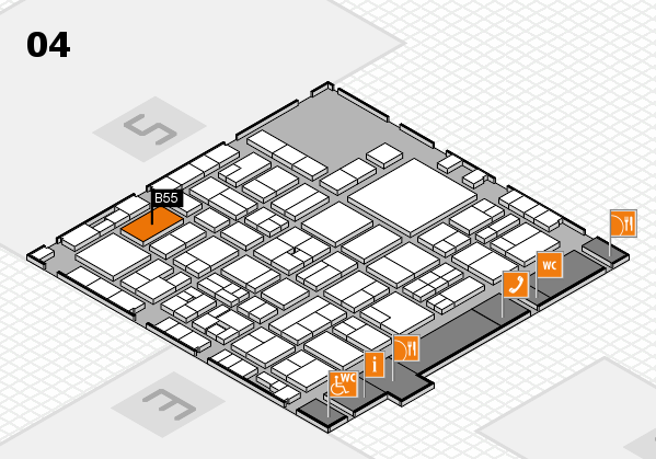 EuroShop 2017 hall map (Hall 4): stand B55
