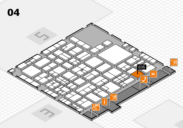 EuroShop 2017 hall map (Hall 4): stand E05