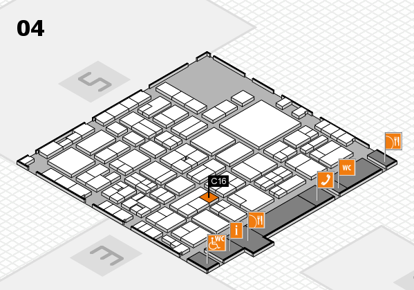EuroShop 2017 hall map (Hall 4): stand C16