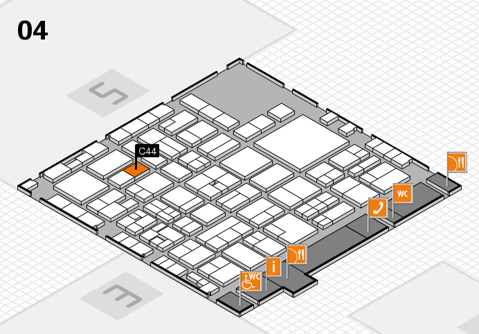 EuroShop 2017 hall map (Hall 4): stand C44