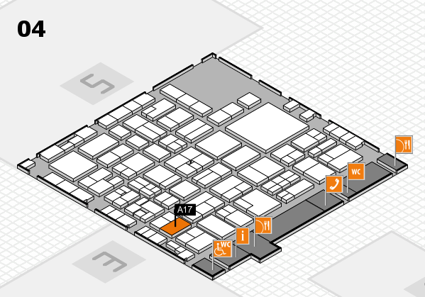 EuroShop 2017 hall map (Hall 4): stand A17