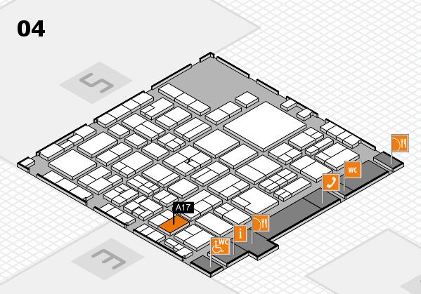 EuroShop 2017 hall map (Hall 4): stand A17