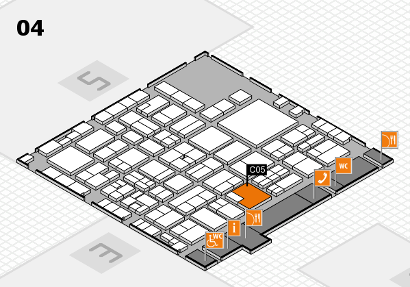 EuroShop 2017 hall map (Hall 4): stand C05